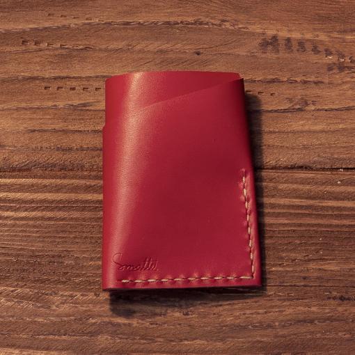 portcard piele personalizat handmade