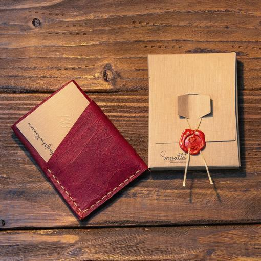 portofel piele visiniu personalizat