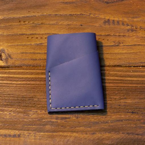 portcard piele personalizat albastru