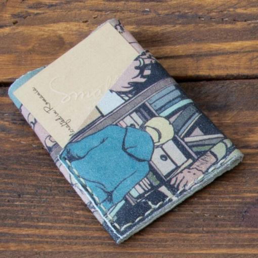 portofel barbatesc piele editie limitata benzi desenata facut manual