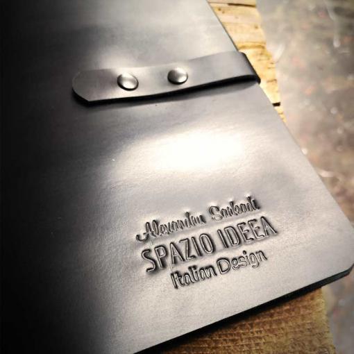 agenda piele neagra - logo