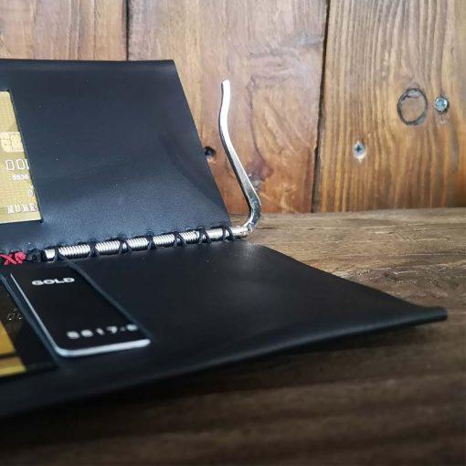 portofel cu clips brodat