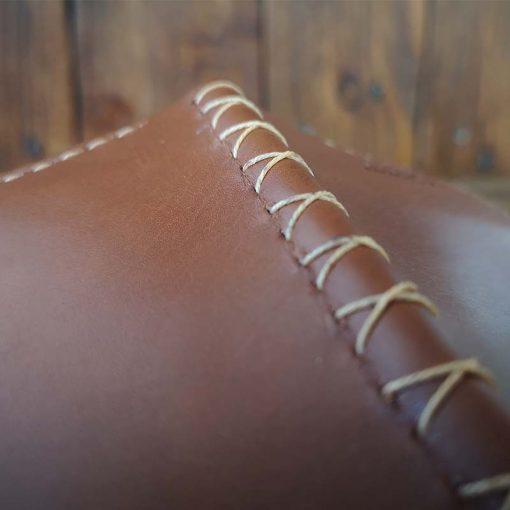 portofel clips maro din piele