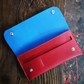 portofel-dama-rosu-albastru